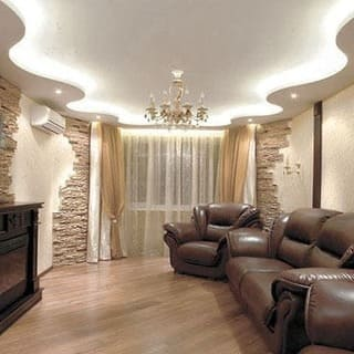 Подвесные потолки из гипсокартона