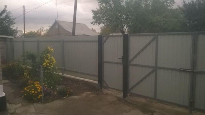 ворота из профнастила под ключ