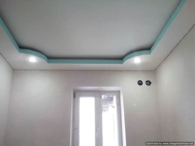 потолок с подсветкой из гипсокартона